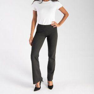 Betabrand Petite Gray Yoga Pants Dress Pants
